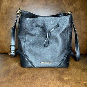 NWT Michael Kors Black Leather Bucket Bag